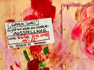 Anne-Kristin Sturm - Einladung Gemalte Songs - 2018